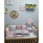 Комплект в детскую кроватку Лисички Lite