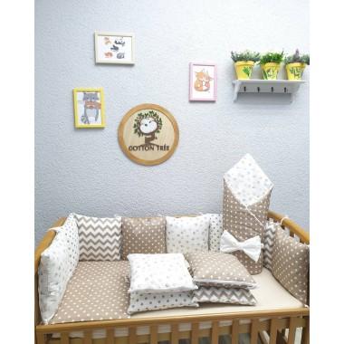 Комплект в детскую кроватку Кофейные звёздочки Lite