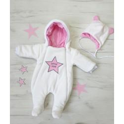 """Демисезонный комплект """"little star""""молочный (розовая  звезда)"""